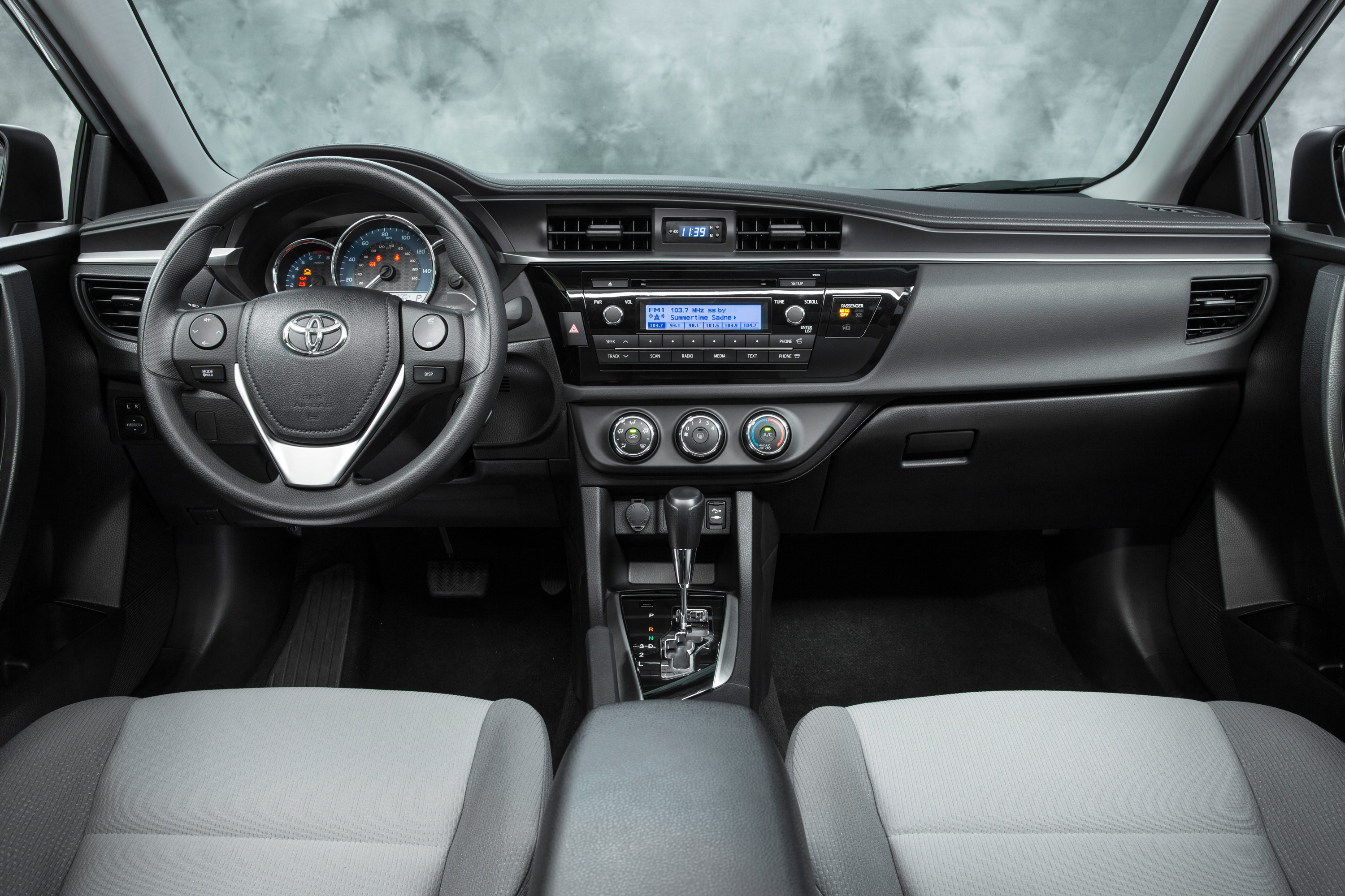 Inside The 2016 Corolla Is Stylish And Welcoming First Thing You Ll Notice A Fluid Dashboard That Creates Continuous Line From Each Side Of