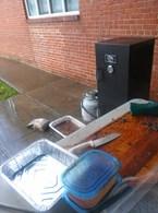 BBQ Grill in Rain
