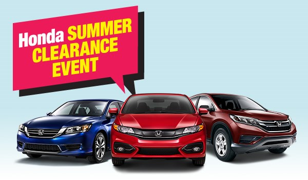 Honda Summer Clearance Event