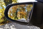 sideview mirror fall autumn