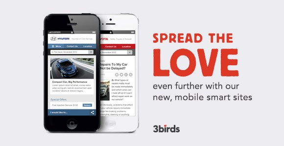 Spread the Love with our new mobile sites