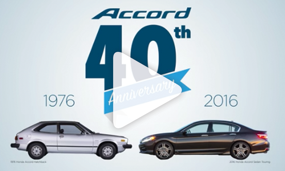 Accord 40th Anniversary Video Screen