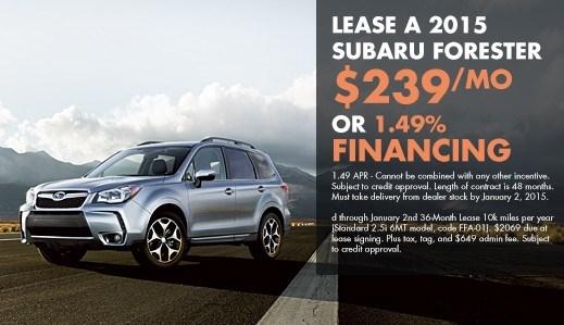 2015 Subaru Forester 2.5i $239 Lease