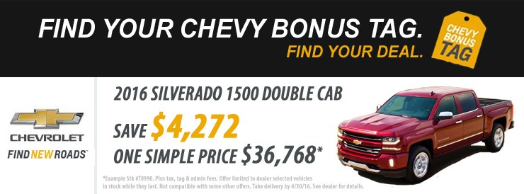 Doug Henry Chevrolet Bonus Tag Sale