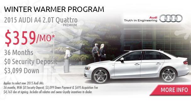 January Audi special offer A4