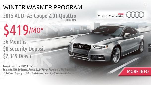 January Audi offer A5