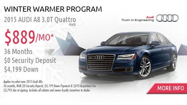 January Audi specials A8