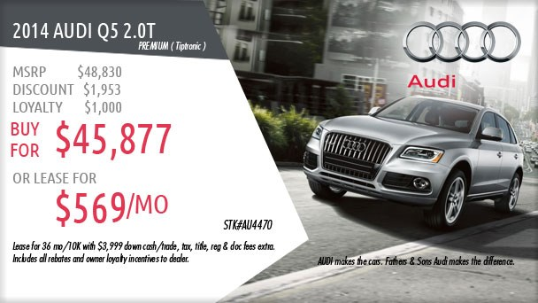 Audi Q5 special offer