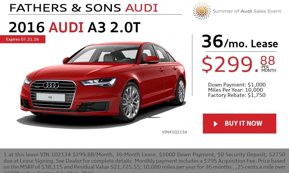 Audi A3 July offer