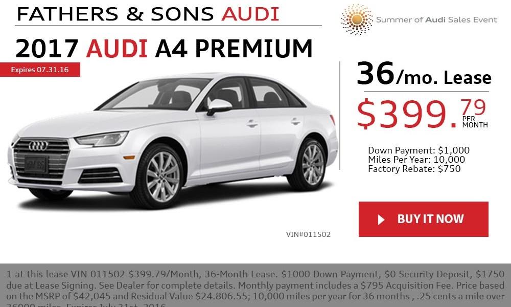 2016 Audi A4 July offer