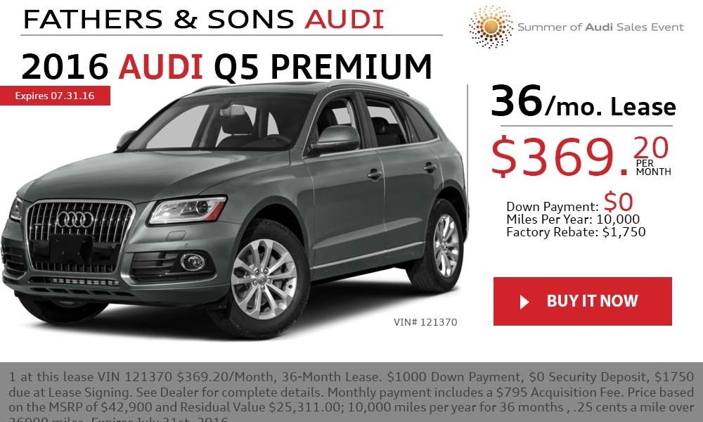 2016 Audi Q5 July offer