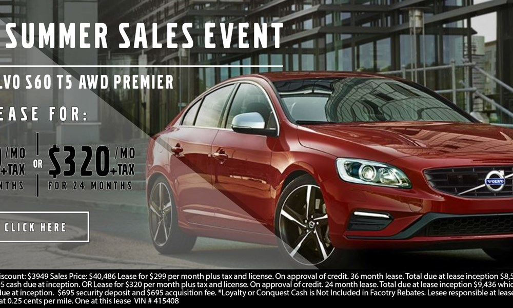 Volvo S60 July offer