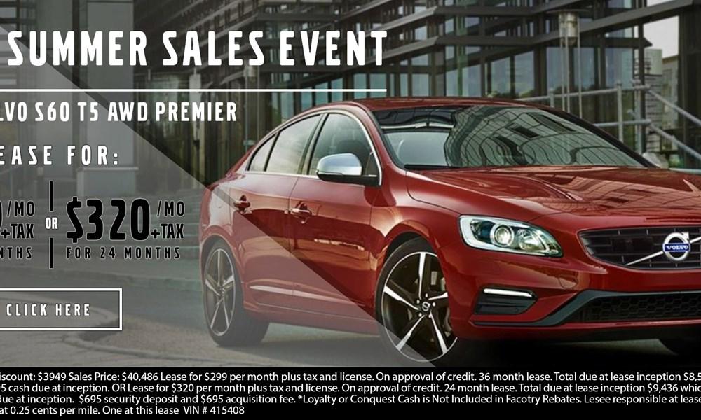 Volvo S60 July offer