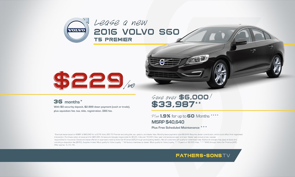 Volvo S60 May offer
