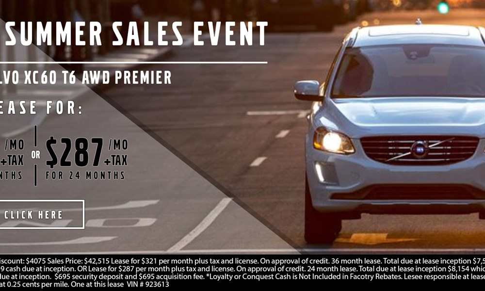 Volvo XC60 July special