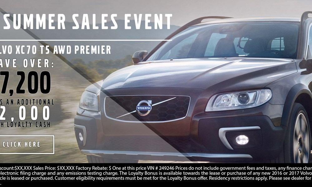 Volvo XC70 July offer