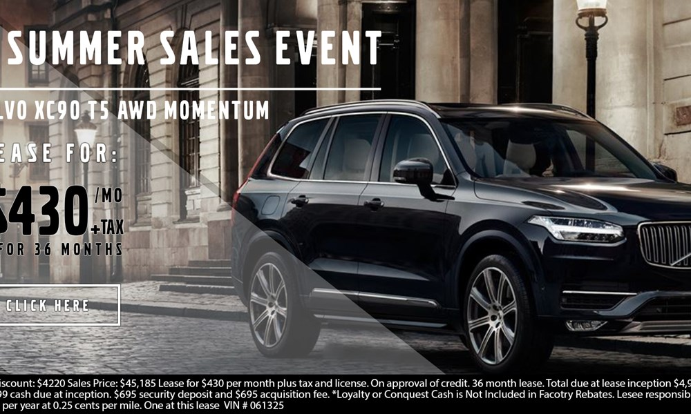 Volvo XC90 July offer