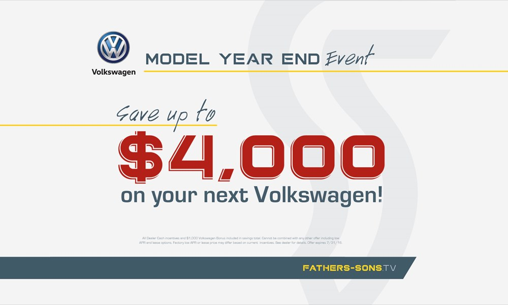 July VW offer