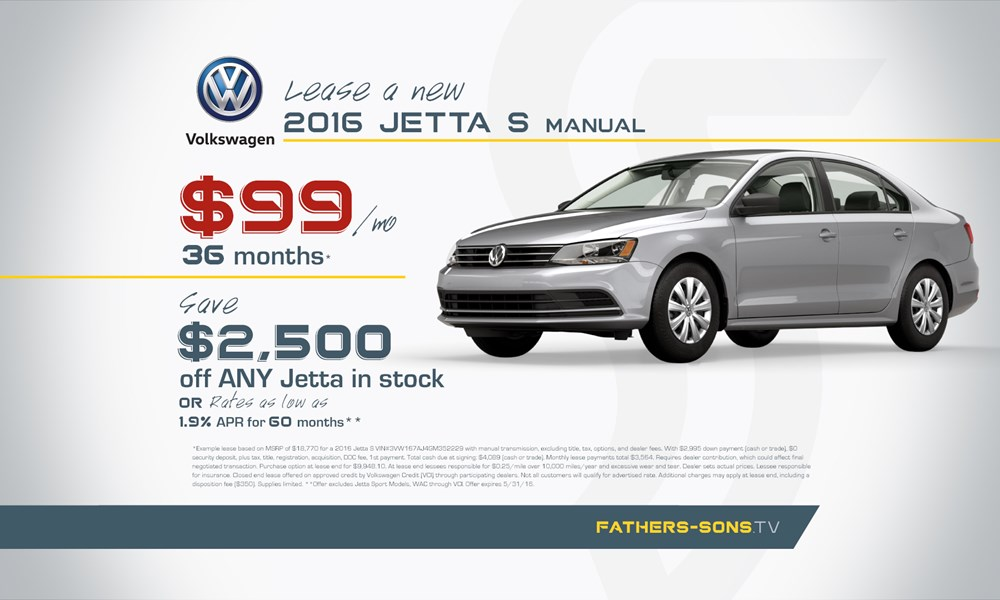 VW Jetta May offer