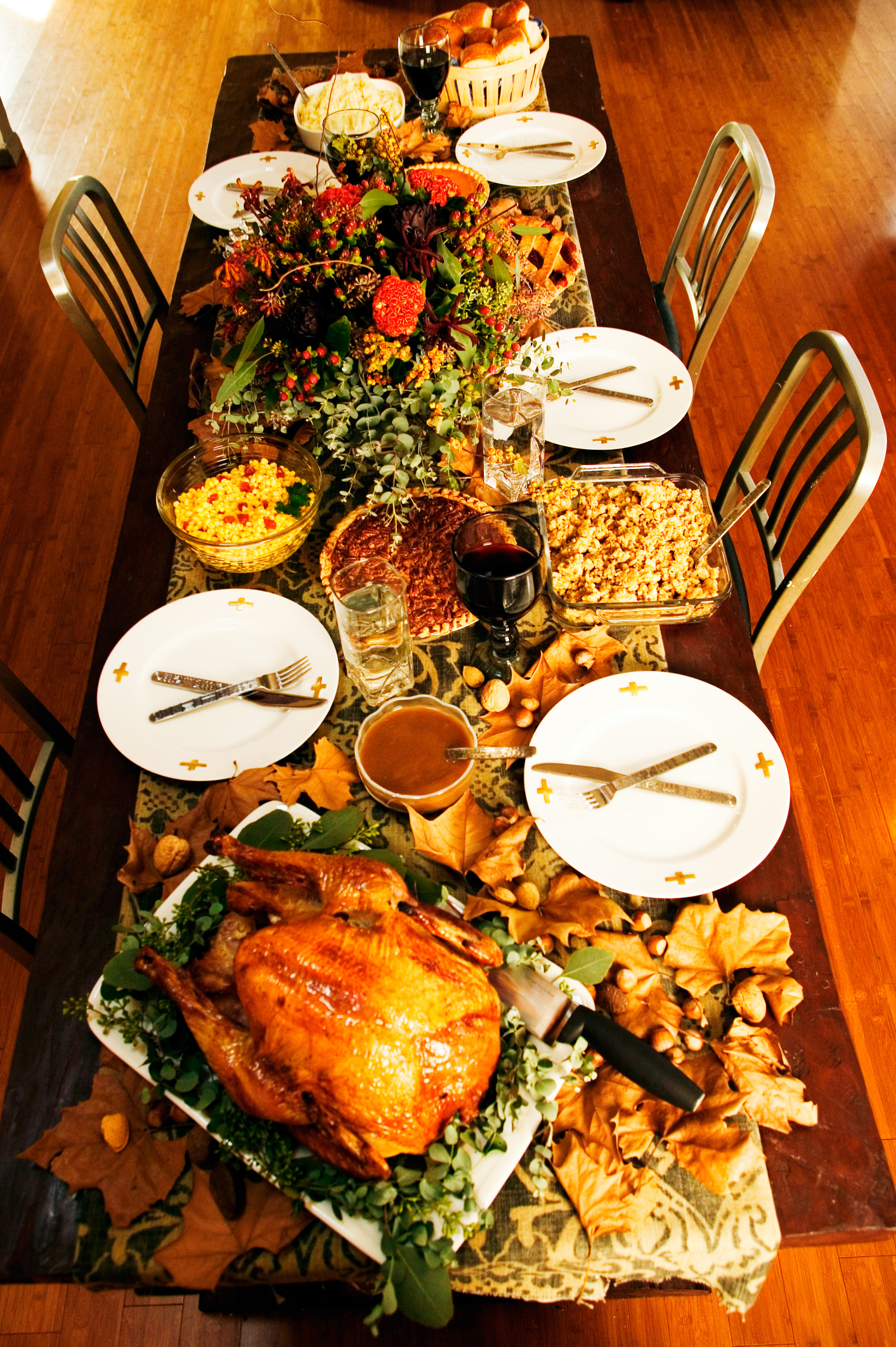 A Traditional Thanksgiving Dinner Includes A Roasted Turkey Bread Stuffing A Myriad Of Potato Dishes And Side Dishes Ranging From Bean Casserole To