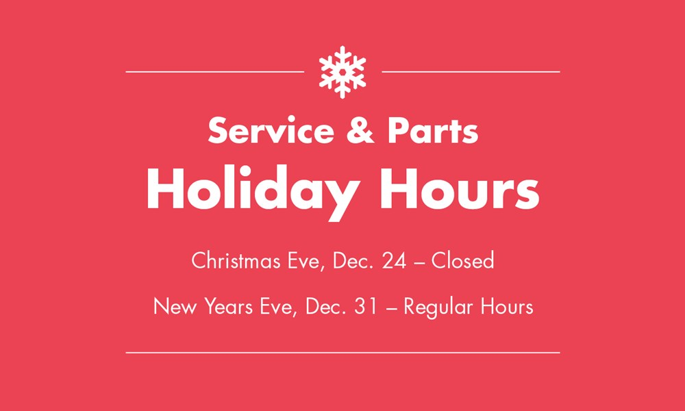 Service Holiday Hours