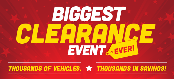 Biggest Clearance Event Ever