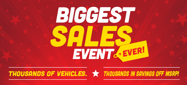 Biggest Sales Event Ever