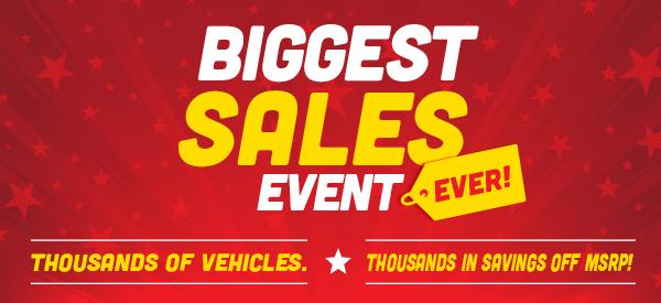 Biggest Sales Event Ever