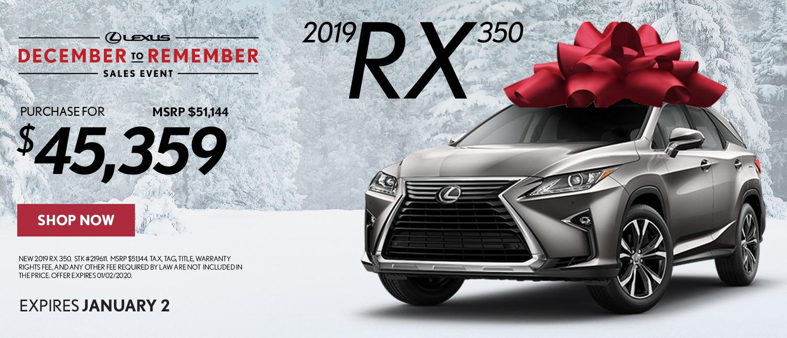 2019 RX 350 Gwinnett