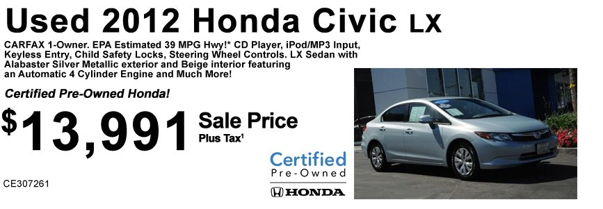 2012 Civic LX CE307261