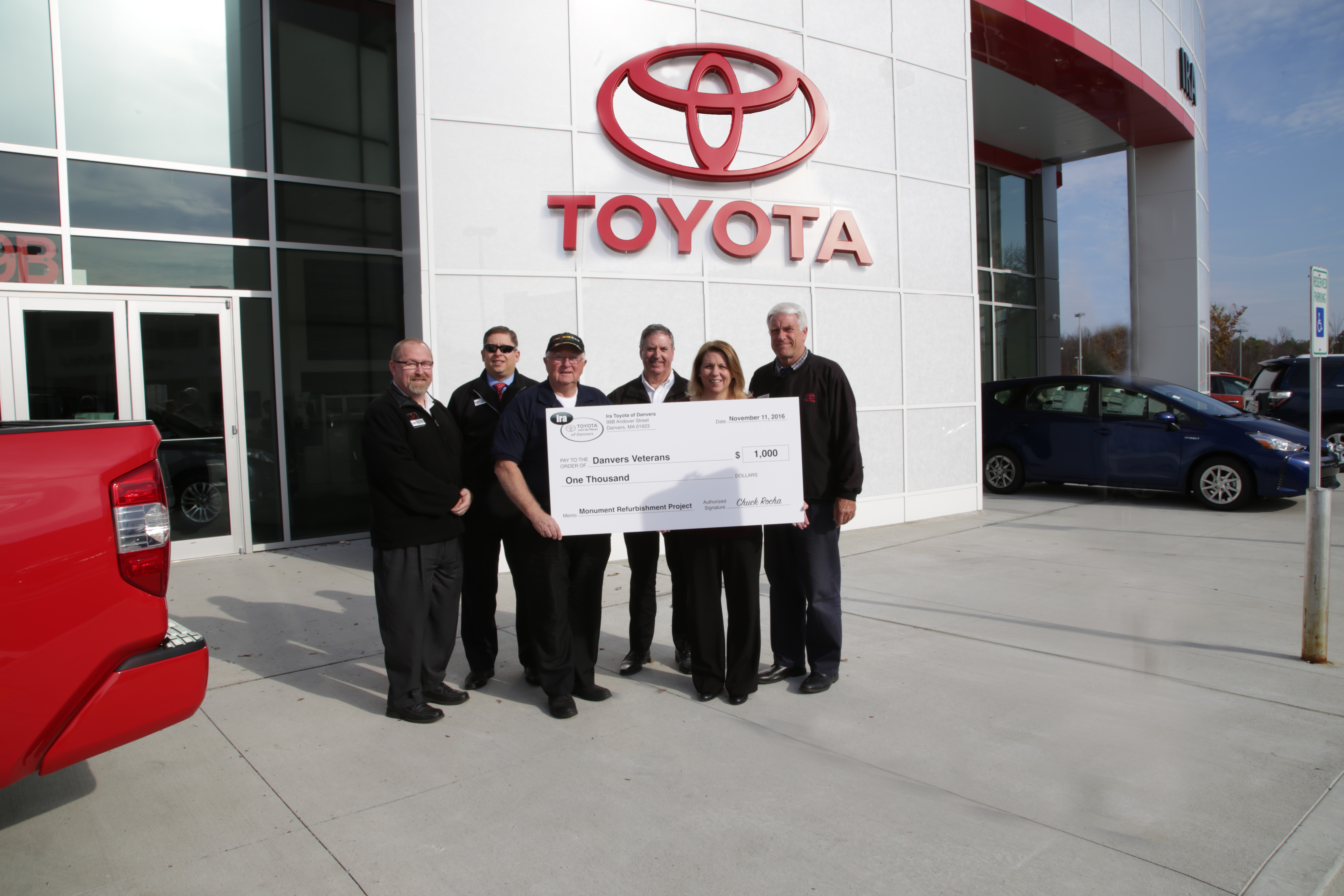 ira toyota of danvers ira toyota of danvers donates to help