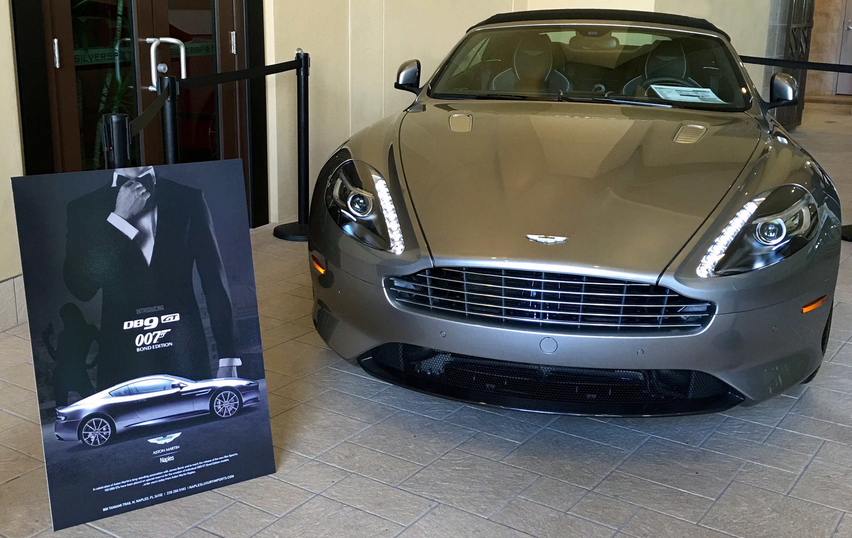 "naples luxury imports - james bond ""spectre"" - now in theaters"