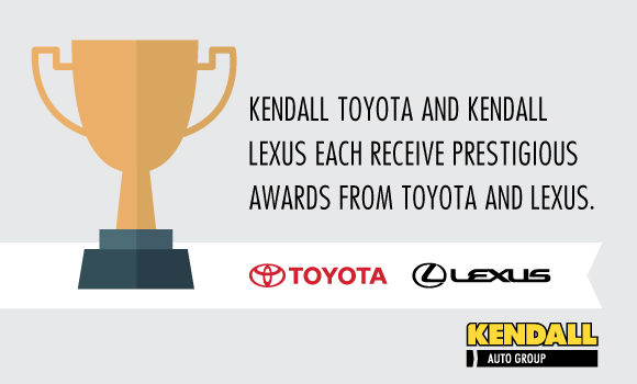 Kendall Auto Oregon   KENDALL TOYOTA OF EUGENE AND KENDALL LEXUS OF EUGENE  EACH RECEIVE PRESTIGIOUS AWARDS FROM TOYOTA AND LEXUS.