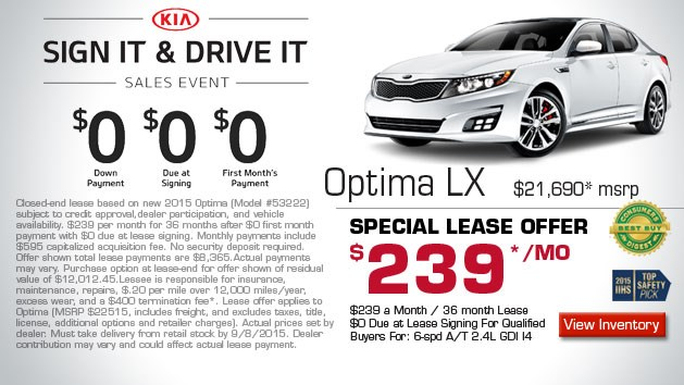 Kia Optima Sign & Drive