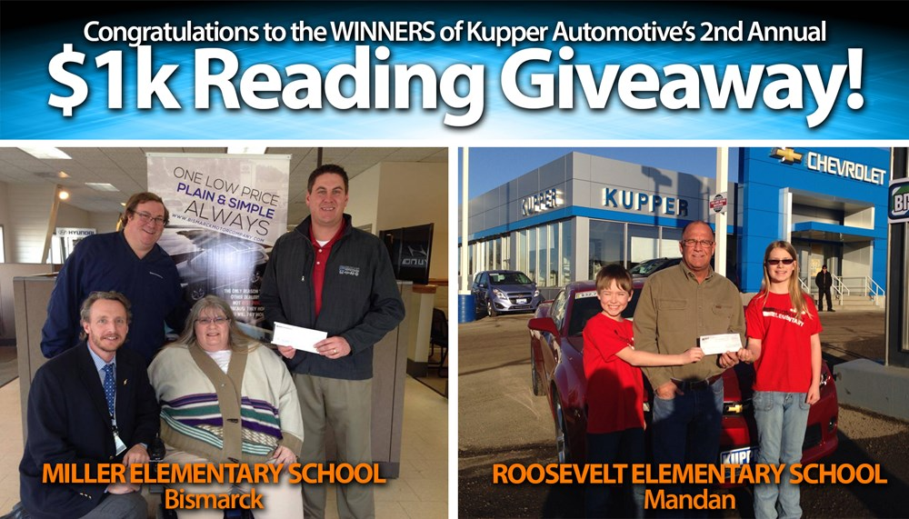 Kupper Automotive's $1K Reading Giveaway