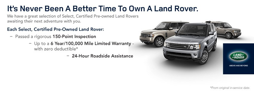 Own a Land Rover