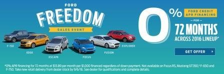 Freedom sales event