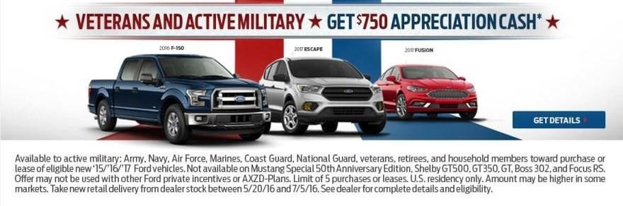 Veteran Ford Rebate