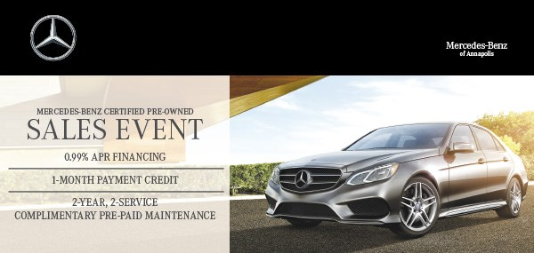 August newsletter for mercedes benz of annapolis for Mercedes benz certified pre owned sales event