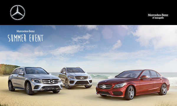 Mercedes benz of annapolis the mercedes benz summer for Mercedes benz service annapolis md