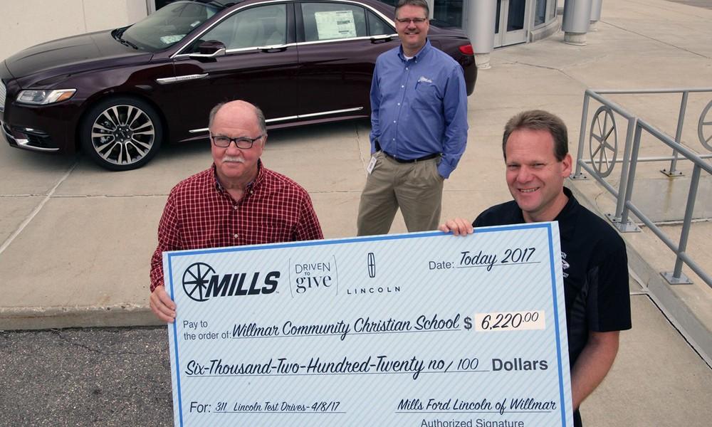 Mills Ford Willmar >> Mills Ford Chrysler Willmar Schools Receive 12 220 For