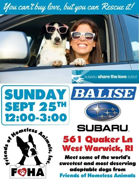 Friends of Homeless Animals Inc. at Balise Subaru