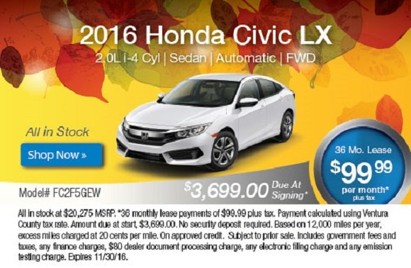 2016 Honda Civic Offer