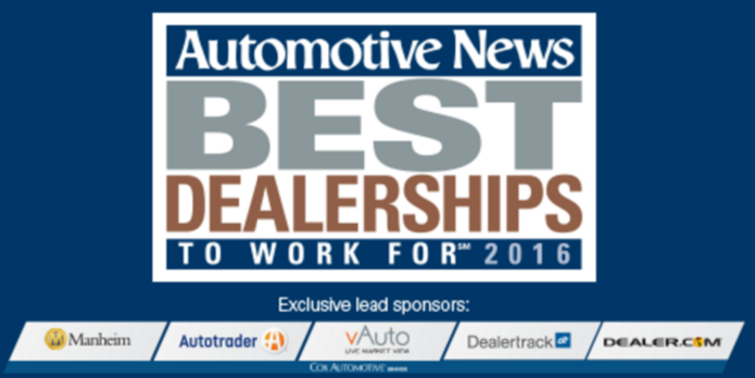 automotive news best dealerships to work for autos post. Black Bedroom Furniture Sets. Home Design Ideas