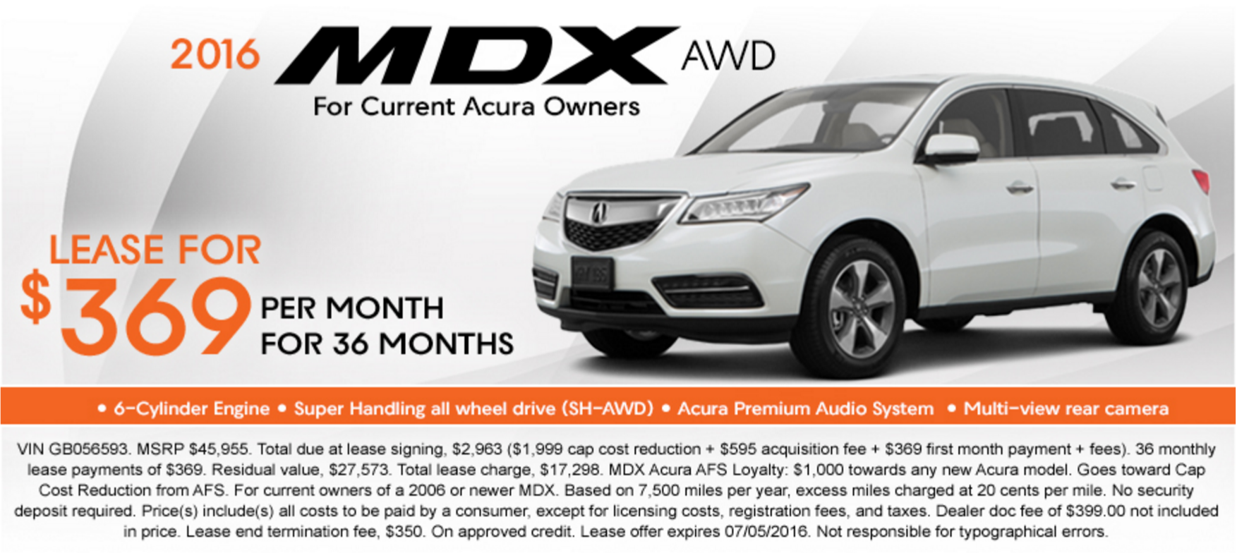 DCH Montclair Acura June News - Acura mdx lease specials