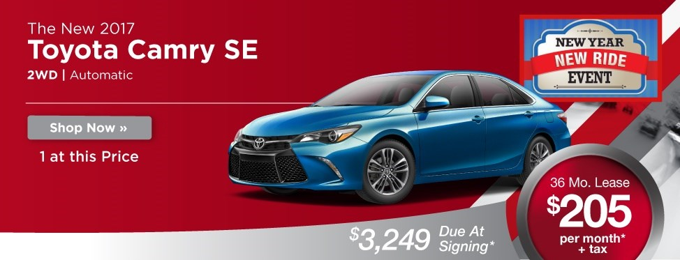 Toyota Camry SE Lease Offer