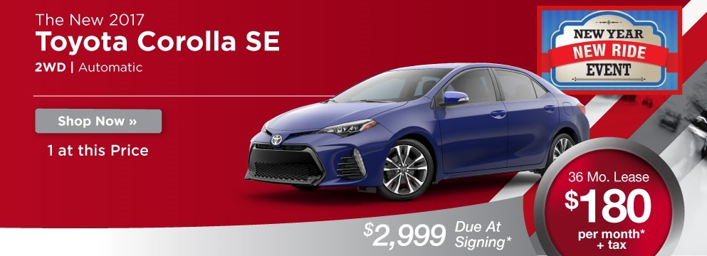 Toyota Corolla SE Lease Offer