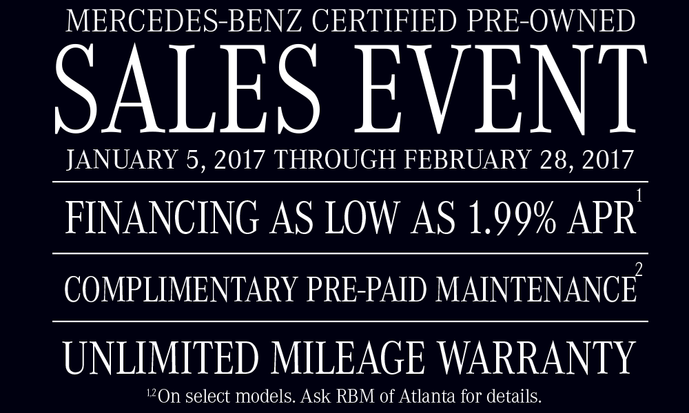 Baby it 39 s cold outside sales event for Mercedes benz certified pre owned warranty