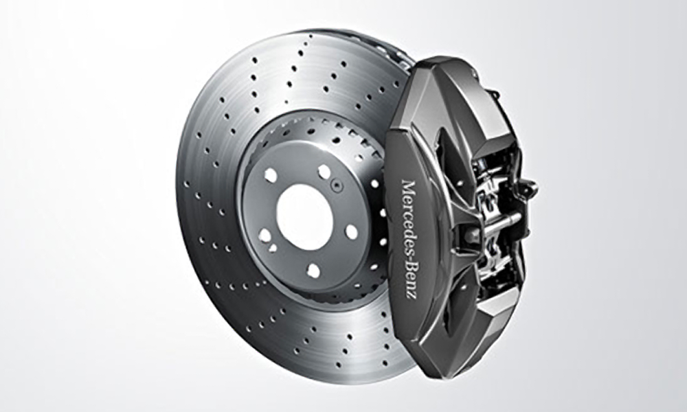 Brake pad and rotor replacement installation for Mercedes benz rotors and pads
