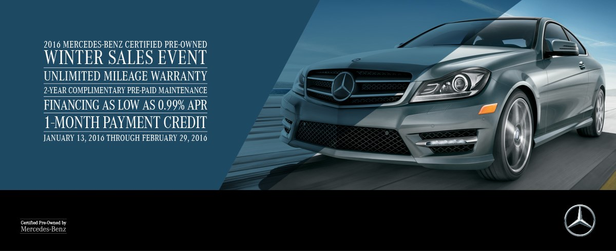 Sears imported autos february 2016 newsletter for Mercedes benz certified pre owned sales event
